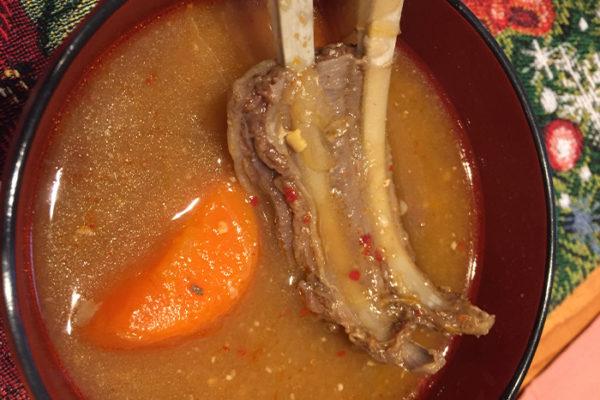 鹿肉スープ