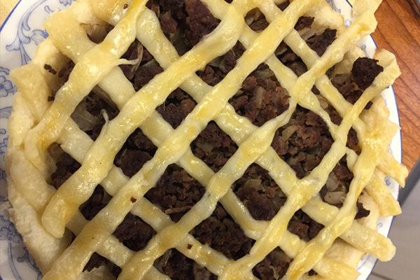 鹿肉のパイ包